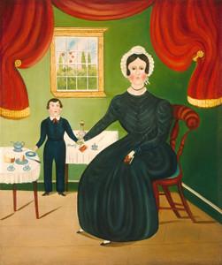 Art Prints of Interior Scene by 19th Century American Artist
