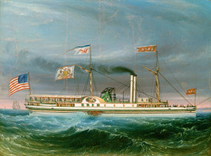 Art Prints of Steamship Erie by 19th Century American Artist