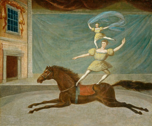 Art Prints of The Mounted Acrobats by 19th Century American Artist