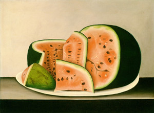 Art Prints of Watermelon on a Plate by 19th Century American Artist