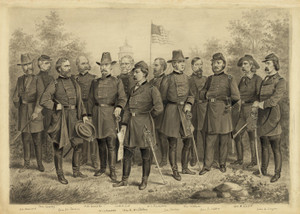 Art Prints of U.S. Army and Cavalry Officers (22919L) by A. Tholey|