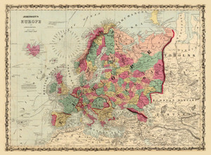 Art Prints of Europe, 1860 (2905039) by A.J. Johnson
