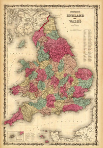 Art Prints of England, Wales 1860 (2905040) by A.J. Johnson