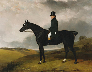 Art Prints of Daniel Haigh on His Horse Kitten by Abraham Cooper