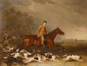 Art Prints of Thomas Oldachre on a Chestnut Hunter by Abraham Cooper