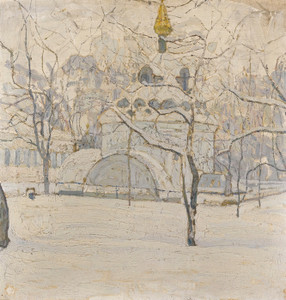 Art Prints of A Corner of a Russian Winter by Abraham Manievich