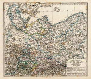 Art Prints of Northwestern Germany, 1875 (2449020) by Adolf Stieler