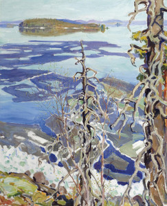 Art Prints of Ice Breaking Up on Lake Ruovesi by Akseli Gallen-Kallela