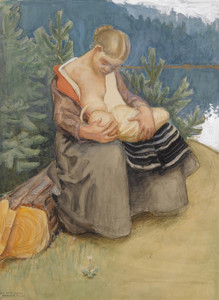 Art Prints of Mother and Child by Akseli Gallen-Kallela