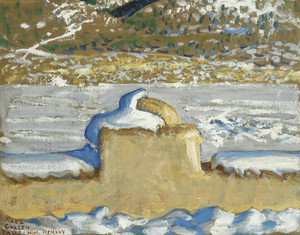Art Prints of Taos New Mexico Under Snow by Akseli Gallen-Kallela