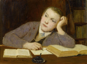 Art Prints of Boy Writing by Albert Anker