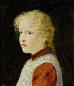 Art Prints of Portrait of a Blond Girl by Albert Anker