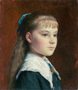 Art Prints of Portrait of Marie Anker, 1881 by Albert Anker