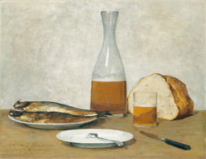 Art Prints of Still Life, Herring by Albert Anker