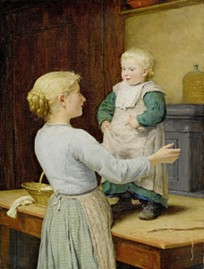 Art Prints of The Older Sister, 1889 by Albert Anker