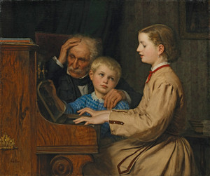 Art Prints of The Song of the Homeland, 1874 by Albert Anker