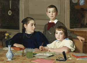 Art Prints of The Siblings, 1896 by Albert Anker