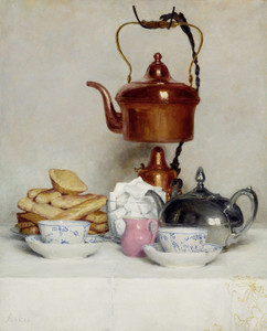 Art Prints of Tea Service by Albert Anker