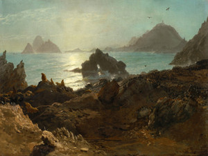 Art Prints of Farallon Islands by Albert Bierstadt
