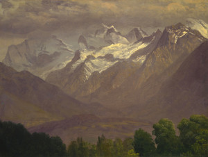 Art Prints of In the High Mountains by Albert Bierstadt