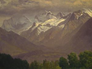 Art Prints of In the High Mountains by Albert Bierstadt