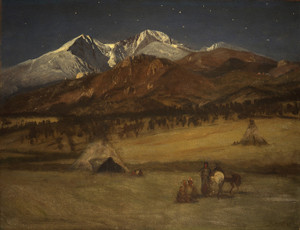 Art Prints of Indian Encampment, Evening by Albert Bierstadt