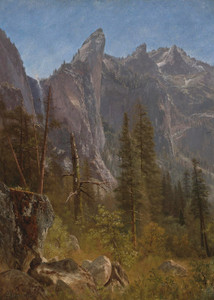 Art Prints of Lost Arrow, Yosemite Valley by Albert Bierstadt