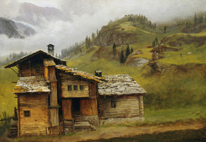 Art Prints of Mountain House by Albert Bierstadt
