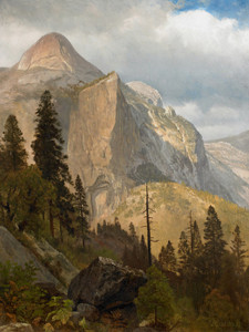 Art Prints of North Dome, Yosemite Valley by Albert Bierstadt