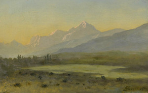Art Prints of Owns Valley, California by Albert Bierstadt