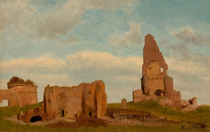 Art Prints of Ruins of Campagna of Rome by Albert Bierstadt