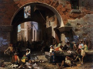 Art Prints of Roman Fish Market, Arch of Octavius by Albert Bierstadt