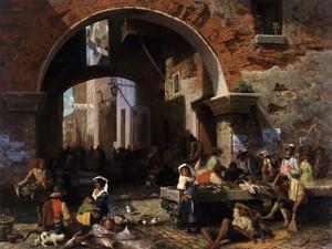 Art Prints of Roman Fish Market, Arch of Octavius by Albert Bierstadt