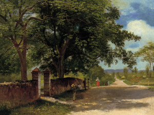 Art Prints of Street in Nassau by Albert Bierstadt
