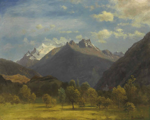 Art Prints of The Alps from Visp by Albert Bierstadt