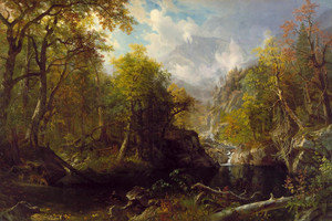 Art Prints of The Emerald Pool by Albert Bierstadt