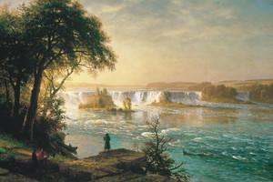 Art Prints of The Falls of Saint Anthony by Albert Bierstadt