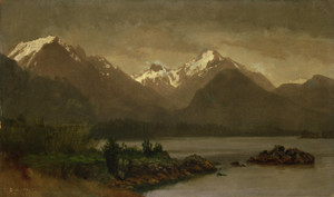 Art Prints of Untitled Mountains and Lake by Albert Bierstadt
