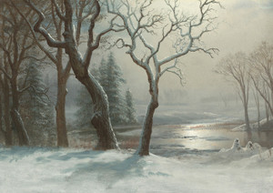 Art Prints of Winter in Yosemite by Albert Bierstadt