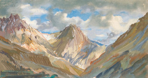 Art Prints of View of the Karakoram Mountains by Alexander Evgenievich Yakovlev