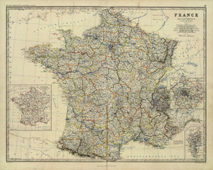 Art Prints of France (0373012) by Alexander Keith Johnston