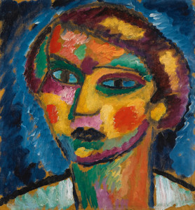 Art Prints of Head of a Woman, 1913 by Alexej Von Jawlensky