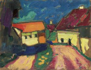 Art Prints of Landscape Study, Dorfstrasse by Alexej Von Jawlensky