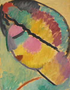Art Prints of Mystical Head, Profile by Alexej Von Jawlensky