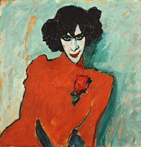 Art Prints of Portrait of the Dancer Aleksandr Sakharov by Alexej Von Jawlensky