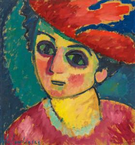 Art Prints of Red Hat by Alexej Von Jawlensky