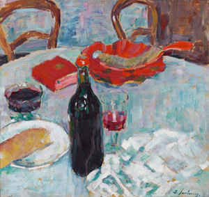 Art Prints of Still Life with Wine Bottle by Alexej Von Jawlensky