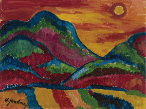 Art Prints of Upper Village by Alexej Von Jawlensky