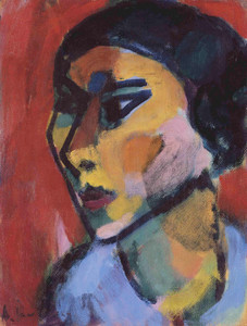Art Prints of Woman's Head in Three Quarter Profile by Alexej Von Jawlensky