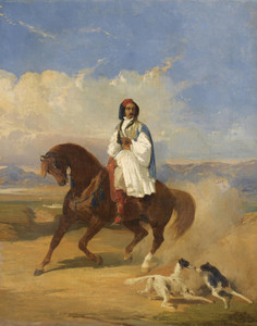 Art Prints of Greek Soldier on Horseback by Alfred de Dreux
